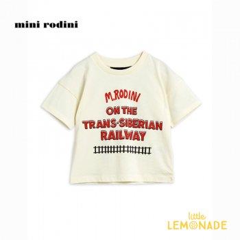【Mini Rodini】シベリア鉄道 デザイン Tシャツ 【3-5歳/5-7歳/7-9歳】子供服 ベビー服 トップス (21220136) ミニロディーニ  21SS YKZ