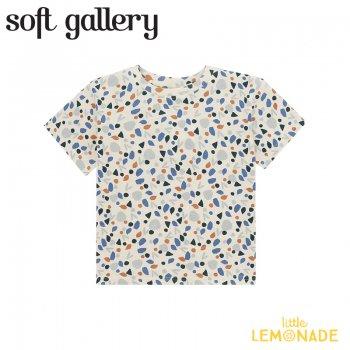 【Soft gallery】 Asger T-shirt/Powder Puff【4歳/6歳/8歳】 半袖 Tシャツ  (452-039-906) 21SS ソフトギャラリー YKZ