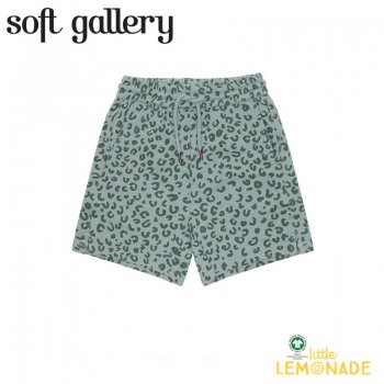 【Soft gallery】 Hudson Shorts【4歳/6歳/8歳】ヒョウ柄 グリーン ショートパンツ  (416-560-911) 21SS ソフトギャラリー YKZ