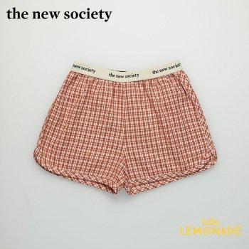 【The New Society】ARLETTE SHORT ショートパンツ 赤チェック柄【6歳/8歳/10歳】パンツ ボトムス 子供服 21SS (SS21K340701) YKZ