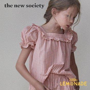 【The New Society】RACHEL BLOUSE ギンガムチェック パフスリーブトップス【4歳/6歳】子供服 フリルシャツ 21SS (SS21K200102) YKZ