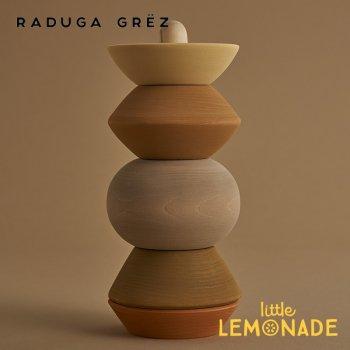 【Raduga Grez】 Big ball sculpture stacking tower スタッキングボールタワー ロシア製 積み木 木製 おもちゃ RG04008