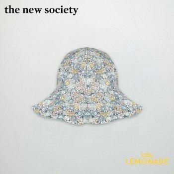 【The New Society】CAMILA HAT ブルー リバティハット【Mサイズ/Lサイズ】帽子 花柄 21SS (SS21A900101) YKZ SALE