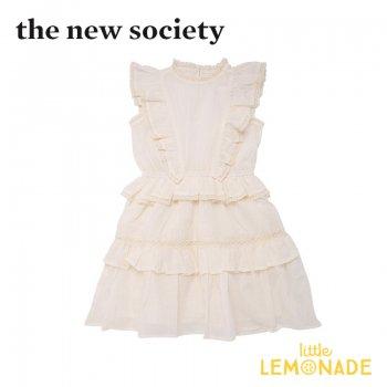 【The New Society】ANTONIA DRESS ワンピース オフホワイト【6歳/8歳/10歳】ドレス 子供服 フリル 21SS (SS21K101601) YKZ