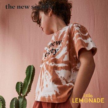 【The New Society】 THE NEW SOCIETY TEE/ブラウン タイダイ柄 Tシャツ【4歳/6歳/8歳/10歳】半袖 子供服 (SS21KW700902) YKZ