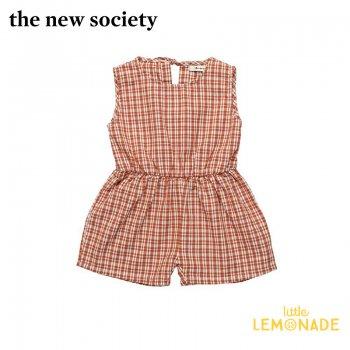 【The New Society】ARLETTE BABY ROMPER 赤チェック サロペット【12か月/2歳】ベビー服 21SS (3996-3012-1) YKZ