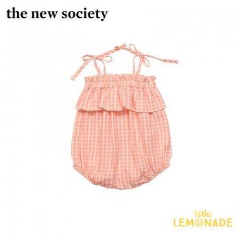 【The New Society】RACHEL BABY ROMPER ギンガムチェック キャミソールロンパース【12か月/2歳】ベビー服 21SS (SS21B410102) YKZ SALE
