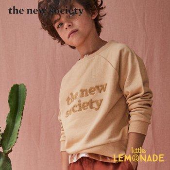 【The New Society】 SWEATER CAMEL スエット キャメル ロゴ入り【6歳/8歳/10歳】長袖 トップス 21SS (SS21K600101) YKZ SALE