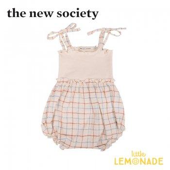 【The New Society】DYLAN BABY ROMPER キャミソールロンパース 赤 青 チェック【12か月】 21SS (SS21B410901) YKZ SALE