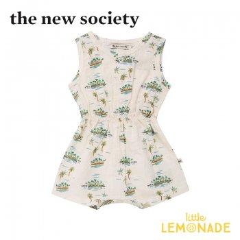 【The New Society】JOSEPH TAHITI BABY ROMPER タヒチ サロペット ヤシの木【12か月】ベビー服 21SS (SS21B410701) YKZ SALE