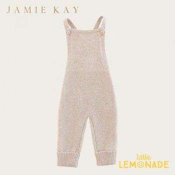 【Jamie Kay】 ALEX ROMPER - OATMEAL MARLE 【3-6か月/6-12か月/1歳/2歳】   ニット  オーバーオール SALE