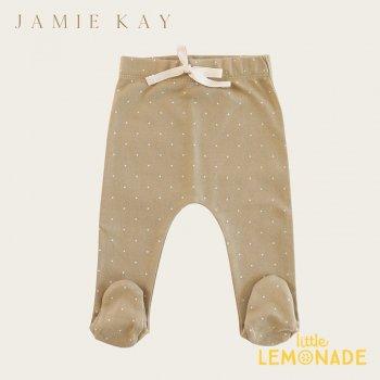 【Jamie Kay】 FOOTED PANT - FERN TINY DOTS   【0-3か月】 足付きパンツ ベビーパンツ 新生児 21SS SALE YKZ