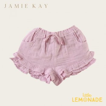 <img class='new_mark_img1' src='https://img.shop-pro.jp/img/new/icons1.gif' style='border:none;display:inline;margin:0px;padding:0px;width:auto;' />【Jamie Kay】 FRILL SHORTS - BUTTERFLY   【1歳/2歳/3歳】 フリルパンツ キュロット モスリン ショートパンツ