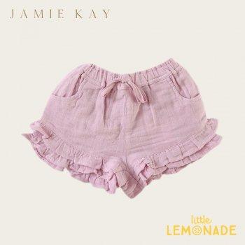 【Jamie Kay】 FRILL SHORTS - BUTTERFLY   【1歳/2歳/3歳/4歳/5歳】 フリルパンツ キュロット モスリン ショートパンツ