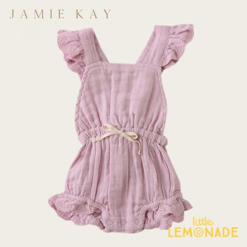 <img class='new_mark_img1' src='https://img.shop-pro.jp/img/new/icons1.gif' style='border:none;display:inline;margin:0px;padding:0px;width:auto;' />【Jamie Kay】 INDIE PLAYSUIT - BUTTERFLY  【6-12か月/1歳/2歳/3歳】 プレイスーツ ワンピース サロペット  モスリン