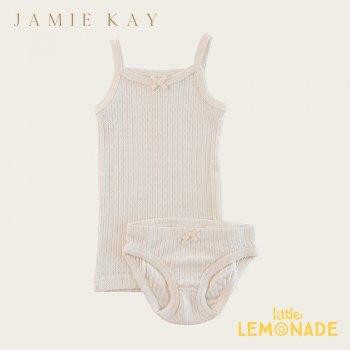 【Jamie Kay】 POINTELLE UNDERWEAR SET - IVORY 【2歳/3歳/4歳】  肌着  キャミソール&パンツセット インナー