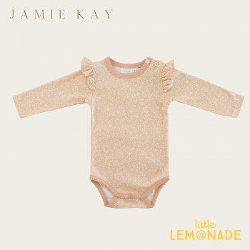 【Jamie Kay】 FRILL BODYSUIT - MEADOW FLORAL  【3-6か月/6-12か月/1歳】 肩フリル 長袖ボディ ロンパース