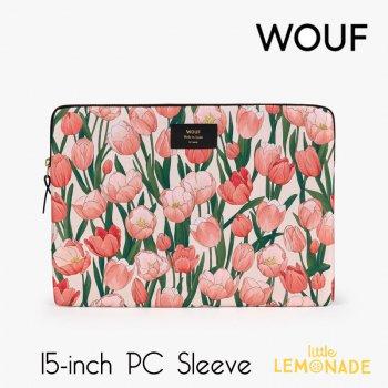 【WOUF】 15インチ PCケース【Amsterdam】パソコン用スリーブ Macbook Pro 15/16 inch PC Sleeve 花 チューリップ (SB210002)