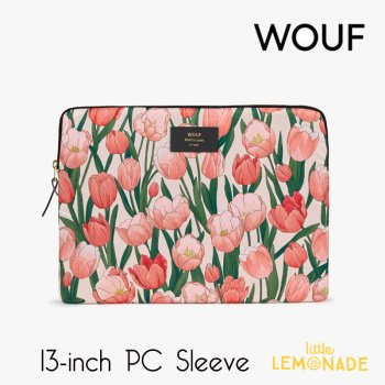 【WOUF】 13インチ PCケース【Amsterdam】 パソコン用スリーブ Macbook Pro 13inch PC Sleeve 花 チューリップ (S210002)