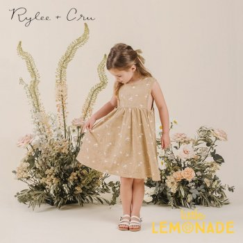 【Rylee+Cru】 clouds layla dress 【18-24か月/2-3歳/4-5歳/6-7歳】 RC003AD ワンピース ライリーアンドクルー 2021SS ykz