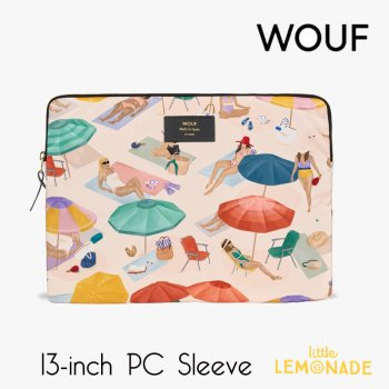 【WOUF】 13インチ PCケース 【Barceloneta】 パソコン用スリーブ Macbook Pro 13inch PC Sleeve 女の子 夏 パラソル ビーチ (S210004)