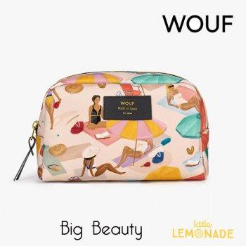 【WOUF】化粧ポーチ 【Barceloneta】 Big Beauty 小物入れ 小物ポーチ 女の子 夏 パラソル ビーチ(MB210004)