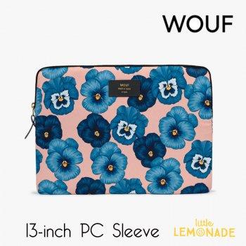 【WOUF】 13インチ PCケース 【Azur】 パソコン用スリーブ Macbook Pro 13inch PC Sleeve 花 青 ブルー (S210005)