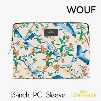 【WOUF】 13インチ PCケース 【Phoenix】 パソコン用スリーブ Macbook Pro 13inch PC Sleeve 青い鳥 ボタニカル (S210006)