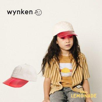 【wynken】 VISOR WYNKEN CAP PINK/RED 【2-6歳 / 6-12歳】 WK10A105 キッズサイズ キャップ 帽子 レッド ウィンケン 21SS YKZ