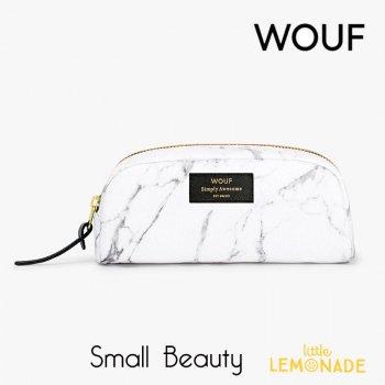 【WOUF】  スモール化粧ポーチ 【White Marble】 マチあり ホワイトマーブル 小物入れ 小物ポーチ  (MA200016)