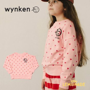 【wynken】 BLOUSON SWEAT BLUSH PINK / RED  【 2歳 / 4歳 】  WK10J35 スウェット 長袖 ピンク ウィンケン 21SS YKZ SALE