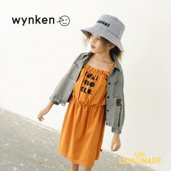 【wynken】CLUB SUNDRESS / BURNT ORANGE  【 4歳 / 6歳 】 WK10J47 ワンピース 半袖 サマードレス キッズ ウィンケン 21SS YKZ