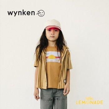 【wynken】SUNRISE TEE / LION 【 4歳 / 6歳 / 8歳 / 10歳 】 WK10J56 半袖 Tシャツ ブラウン ウィンケン 21SS YKZ