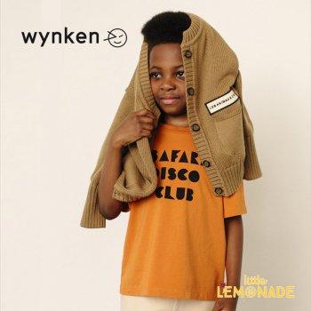 【wynken】SAFARI DISCO TEE / BURNT ORANGE  【 4歳 / 8歳 / 10歳 】  WK10J58 半袖 Tシャツ キッズ ウィンケン 21SS YKZ