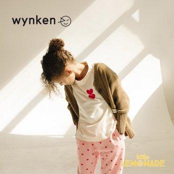 【wynken】 TWIN HEART TEE / OFF WHITE  【 4歳 / 6歳 / 8歳  】 WK10J59 半袖 キッズ ウィンケン 21SS YKZ