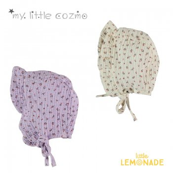 【MY LITTLE COZMO】ORGANIC LIBERTY BONNET  IVORY/MAUVE オーガニックリバティボンネット【46cm/48cm】YKZ 21SS(OLIVIA126)