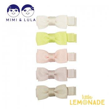 【Mimi&Lula】 MARTHA BOW SALON CLIPS - BORA BORA/マーサーリボンヘアクリップ5個セット  女の子 21SS(70205672)