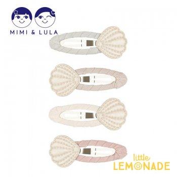 【Mimi&Lula】 SHIMMER SHELL CLIC CLACS/シェルヘアクリップ4個セット 貝殻 女の子 21SS(70207208)
