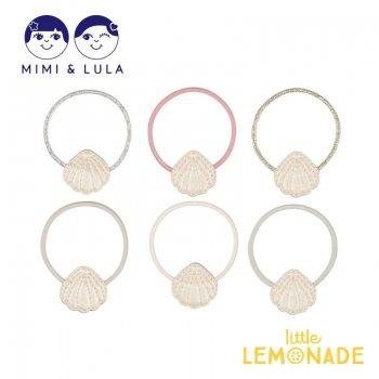 【Mimi&Lula】 SHIMMER SHELL PONIES/シェルヘアゴム6個セット 貝殻 女の子 21SS(70207408)