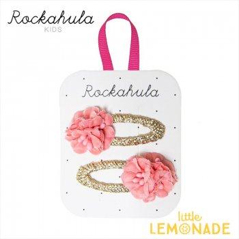 【Rockahula Kids】Blossom Clips-Pink/ブロッサムフラワーヘアクリップ 2個セット ぱっちんどめ ヘアアクセサリー  (H1506P)