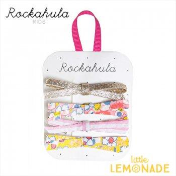 【Rockahula Kids】 Flower Power Skinny Bow Clips-Multi/4デザインリボンヘアピン 4個セット ヘアアクセサリー  (H1537M)