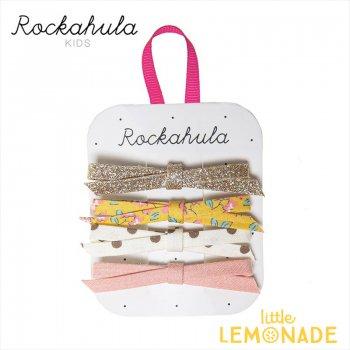 【Rockahula Kids】 Blossom Skinny Bow Clips-Yellow/4デザインリボンヘアピン 4個セット ヘアアクセサリー  (H1545Y)