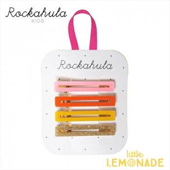 【Rockahula Kids】 Retro Acrylic Bar Clips Multi/レトロ4デザインヘアピン 4個セット ヘアアクセサリー  (H1547M)