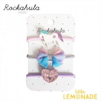 【Rockahula Kids】 Unicorn Glitter Ponies-Multi/ユニコーングリッターヘアゴム 3個セット ヘアアクセサリー  (H746M)