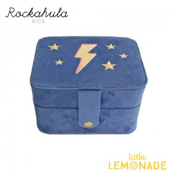 <img class='new_mark_img1' src='https://img.shop-pro.jp/img/new/icons55.gif' style='border:none;display:inline;margin:0px;padding:0px;width:auto;' />【Rockahula Kids】 Lightning Flash Jewellery Box-Blue/フラッシュ ジュエリーボックス アクセサリーケース  (JB200B)