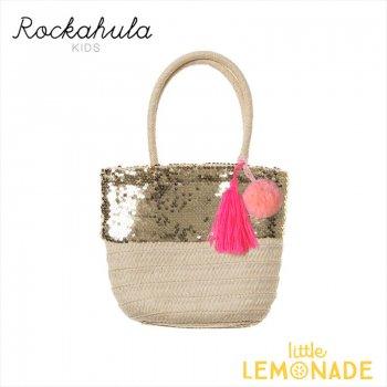 【Rockahula Kids】 Sequin Pom Pom Basket/ポンポンかごバッグ かばん 夏 女の子 (G1365N)