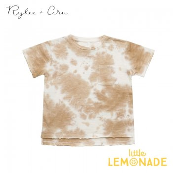 【Rylee+Cru】 tie dye raw edge tee 【12-18か月/18-24か月/2-3歳/4-5歳】 RC100AD Tシャツ 半袖 ライリー 2021SS ykz SALE