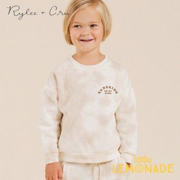 【Rylee+Cru】 tie dye crew neck 【12-18か月/18-24か月/2-3歳/4-5歳】 RC318HL トレーナー 長袖 ライリー&クルー 2021SS ykz SALE