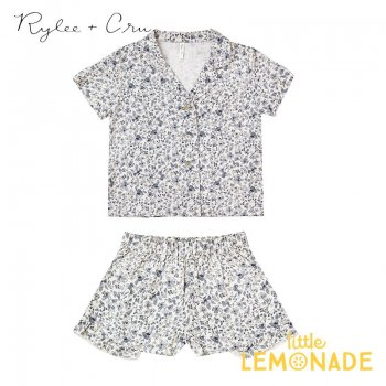 【Rylee+Cru】 blue floral bedtime pajama set【2-3歳/4-5歳/6-7歳/8-9歳】 RC328VYB パジャマ ライリーアンドクルー 2021SS ykz