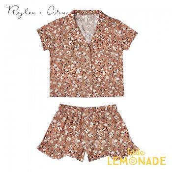 【Rylee+Cru】 dahlia bedtime pajama set 【2-3歳/4-5歳/6-7歳/8-9歳】 RC328RT パジャマ ライリーアンドクルー 2021SS ykz